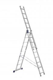 Лестница 3-секционная алюминиевая проф. П3 9314 (402/704/1022 см)