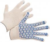 Перчатки с ПВХ 6Н Волна Люкс класс 10 размер 24 (10/300) белые